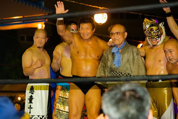 Photos: いい笑顔の藤波辰爾@桶川マルキユー