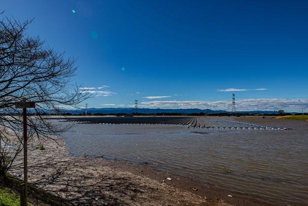 水没したメガソーラー@東松山