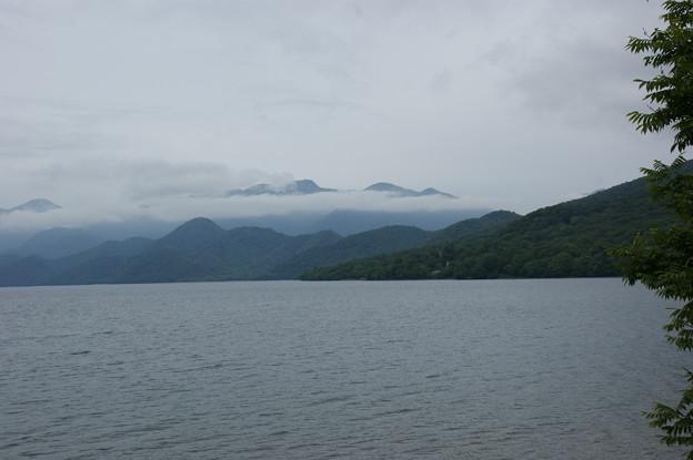 窓からの中禅寺湖の眺め
