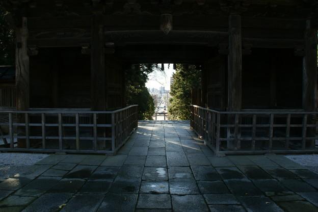 随身門から見た仙台の街