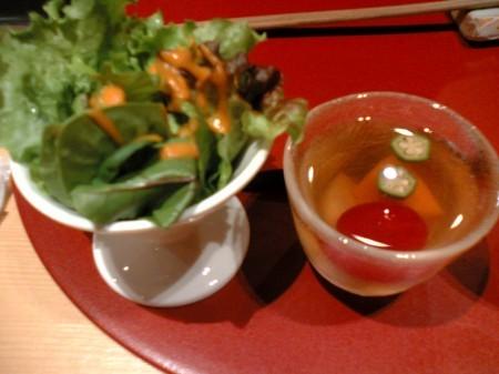 新宿 ヒサマズキッチン サラダと野菜のゼリー