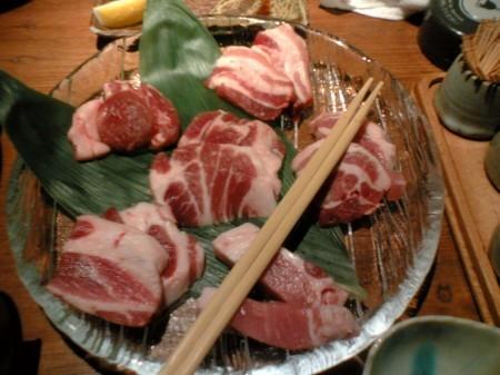三年ぶた蔵 池袋豚舎 あっぱれさんま大教授石焼コース(1)
