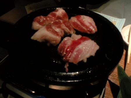 三年ぶた蔵 池袋豚舎 あっぱれさんま大教授石焼コース(2)