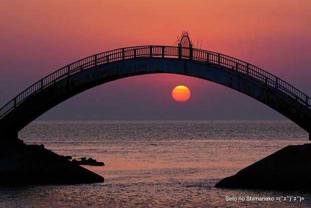 淡路の夕日