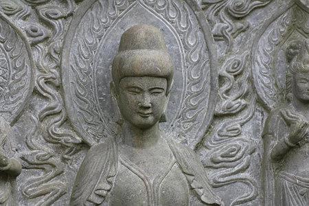 2009.03.21 報国寺 石彫り仏