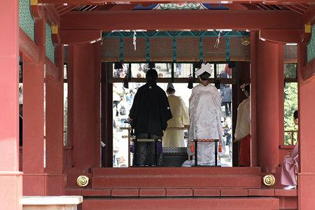 2009.03.21 鶴岡八幡宮 舞殿 結婚の儀