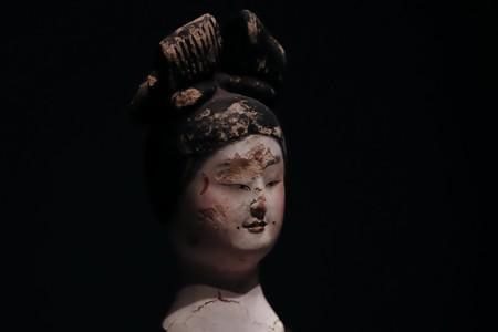 2018.03.16 東京博物館 女性俑頭部 横顔 中国 TC-480