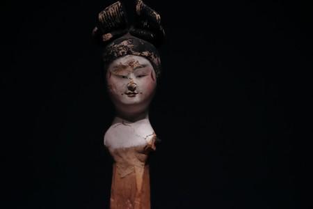 2018.03.16 東京博物館 女性俑頭部 中国 TC-480