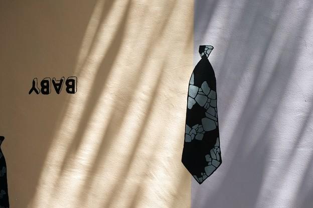 2018.08.13 目黒川ふれあい橋壁画 ネクタイ