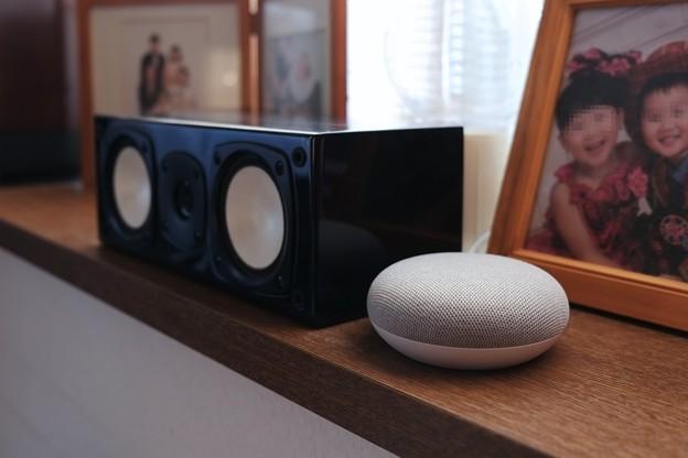 2018.12.04 居間の窓辺 Google Home Mini