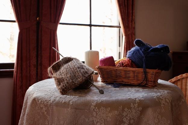 2018.12.05 外交官の家 世界のクリスマス2018 寝室 手編み
