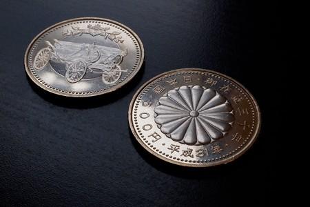 2019.02.22 机 天皇陛下御在位30年記念硬貨 表裏 XF10