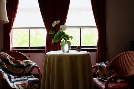 2019.05.05 外交官の家 寝室 端午の節句 活花