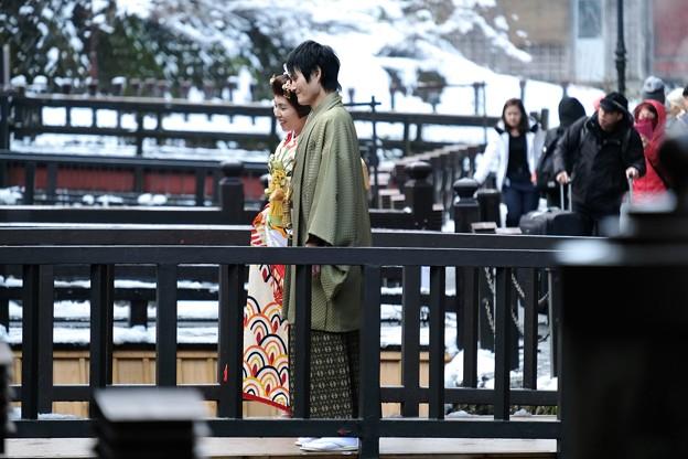 2020.01.22 銀山温泉 結婚人と旅の人