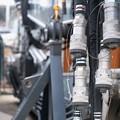 Photos: 2020.03.31 和泉川 ショベルカー 腕 接続接栓