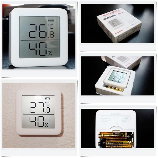 2020.04.26 机 SwitchBot デジタル 温湿度計 設置