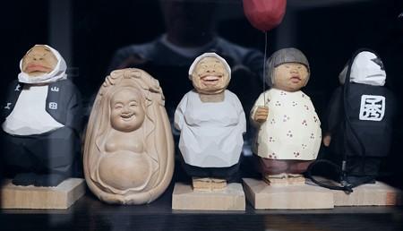 2020.12.10 居間 木っ端人形と台湾土産達磨