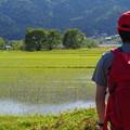 写真: 余呉湖のほとりで一句
