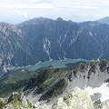 写真: 大汝山から黒部ダムを見下ろす 12:34