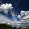 写真: 高い雲・低い雲