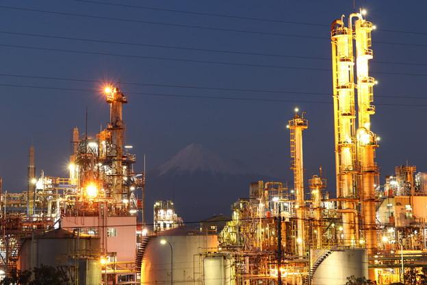 富士の工場夜景