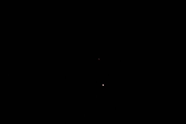 惑星直列(木星と土星)
