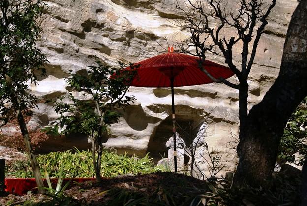 赤い傘と・・影のある風景・・♪