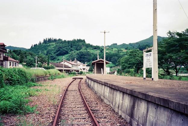 粕渕駅ホーム