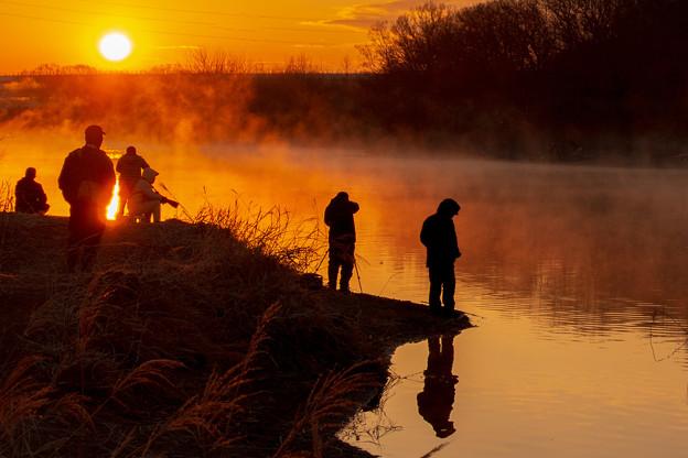 写真: 早朝の写真家