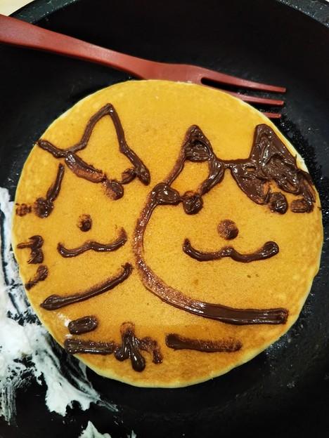 お絵かきパンケーキ