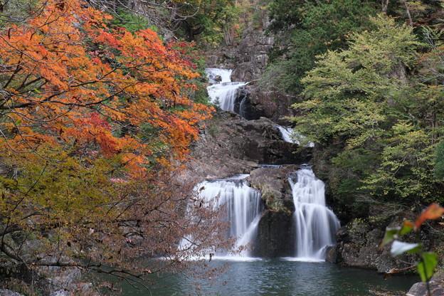 彩る三ッ滝(三段峡にて)