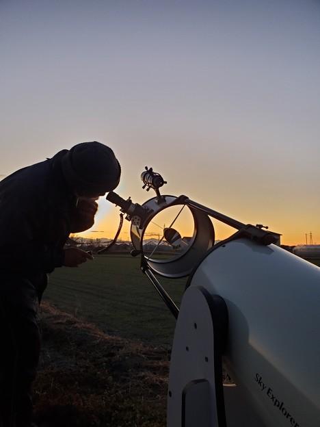 30cm反射望遠鏡調整中