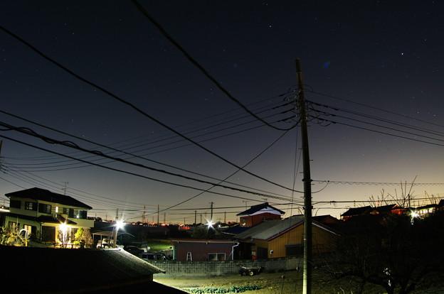 冷え込む夜空