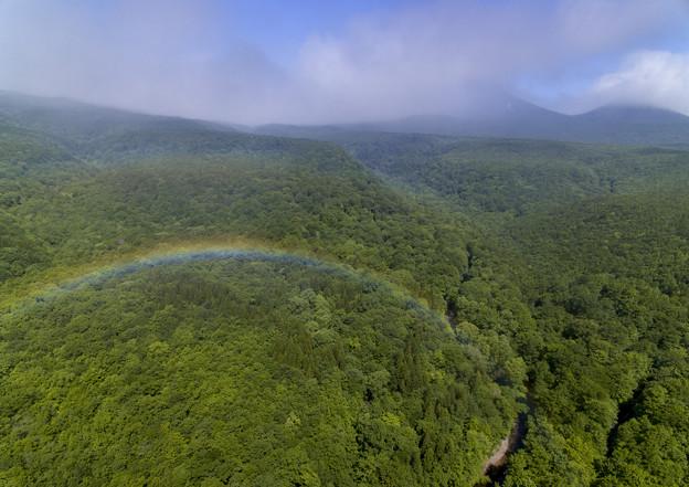 写真: 虹の上の空