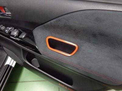 セレナC27 車内レッドシート貼り込み