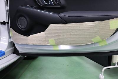 スープラ90 ドアパネル傷防止カーボンシート貼り込み前