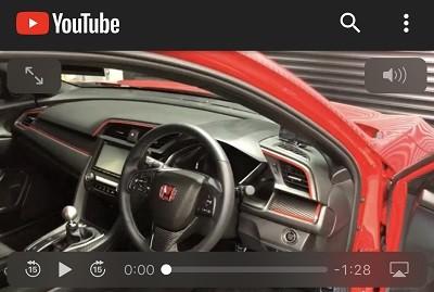 シビックFK 車種別カット済みカーボンシート貼り込み - YouTube