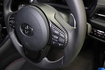 スープラ90 カット済みカーボンシート貼り込み ステアリング