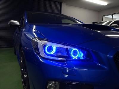 WRX STIヘッドライト加工
