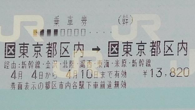 乗車券は東京から東京