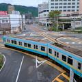 写真: びわ湖浜大津駅付近から見下ろす