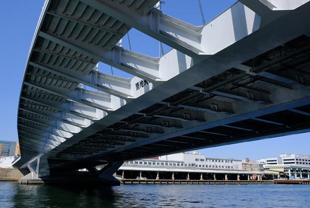 築地大橋と築地市場