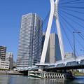 Photos: 隅田川の橋5 中央大橋と船「道灌」