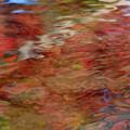 水面の紅葉模様3