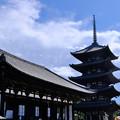 Photos: 東金堂と五重塔