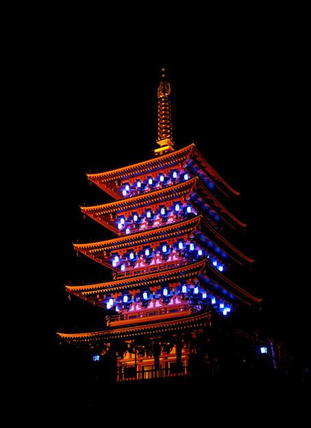 五重塔ライトアップ