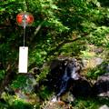 Photos: 滝と紅葉風鈴