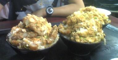 美富士食堂のカツ丼(食前)