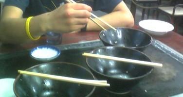 美富士食堂のカツ丼(食後)