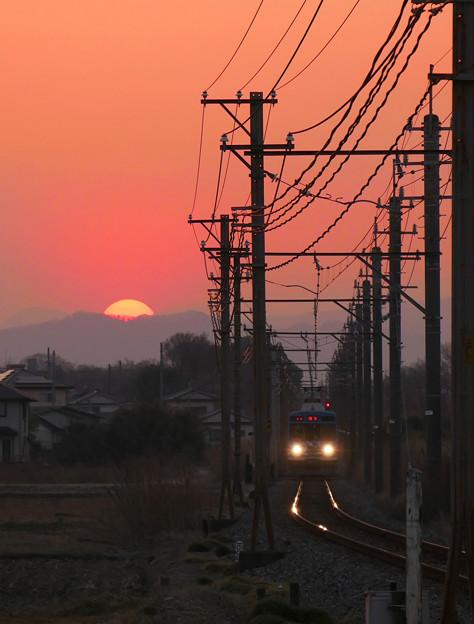 電車待ってたらマジ日が暮れちまった(笑)